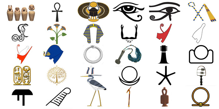 29 popular ancient egyptian hieroglyphic symbols and meanings